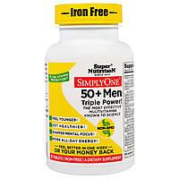 Super Nutrition, SimplyOne, Men 50+, Iron-Free, Triple Power, 30 Tablets, купить, цена, отзывы