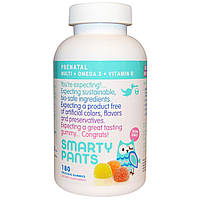 SmartyPants, Пренатальный мульти+ Омега-3 + витамин D, 180 гамми