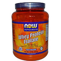 Now Foods, Изолят сывороточного протеина, голландский шоколад, 1,8 фунта (816 г), купить, цена, отзывы