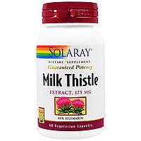 Solaray, Экстракт молочного чертополоха, 175 мг, 60 вегетарианских капсул, купить, цена, отзывы