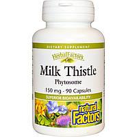 Natural Factors, Herbal Factors, Молочный чертополох, 150 мг, 90 капсул