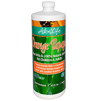 Aloe Life International, Inc, Алоэ Вера и 100% натуральные соки для детей и взрослых, апельсин и папайя, 32 жидких унции (1 кварта), купить, цена,