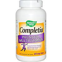 Nature's Way, Completia, мультивитамины для беременных, 240 таблеток, купить, цена, отзывы