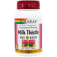 Solaray, Молочный чертополох, одна капсула в день, 30 вегетарианских капсул, купить, цена, отзывы