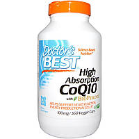 Doctor's Best, Hi Absorption CoQ10, 100mg, 360 Vegie Caps, купить, цена, отзывы