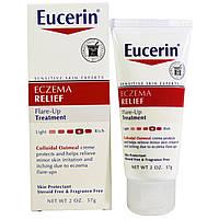 Eucerin, Eczema Relief, лечение вспышек экземы, 2 унции (57 г)