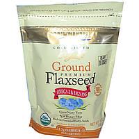 Spectrum Essentials, Органическое молотое льяняное семя премиум-класса, 396 г, купить, цена, отзывы