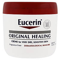 Eucerin, Original Healing, Creme for Very Dry, Sensitive Skin, Fragrance Free, 16 oz (454 g), купить, цена, отзывы