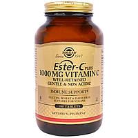 """Solgar, """"Эфир-C плюс"""", витамин C, 1 000 мг, 180 таблеток, купить, цена, отзывы"""
