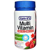 Yum-V's, Мультивитамины для взрослых, Малиновый вкус, 60 штук, купить, цена, отзывы