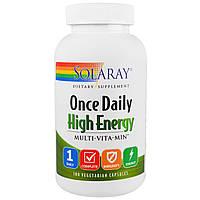 Solaray, Solaray, Энергия на целый день, Мультивитамины, 180 вегетарианских капсул