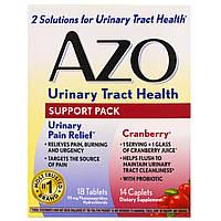 Azo, Здоровье мочевыводящих путей, поддерживающий комплект, 18 таблеток, 14 капс