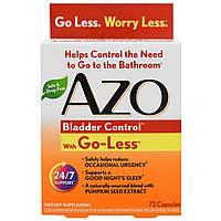 Azo, Контроль мочевого пузыря, со смесью Go-Less, 72 капсулы, купить, цена, отзывы