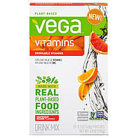 Vega, Смесь для приготовления напитков Vega, витамины, вкус грейпфрута и апельсина, 20 пакетиков, по 0,2 унции (6,8 g) каждый, купить, цена, отзывы
