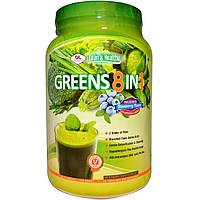 Olympian Labs Inc., Greens 8 в 1, восхитительный вкус черники, 730 г, купить, цена, отзывы