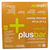 Greens Plus, Протеиновая плитка, с натуральным арахисовым маслом, 12 плиток по 2 унции (59 г), купить, цена, отзывы