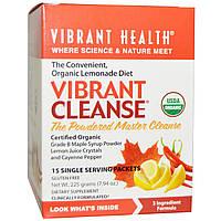 Vibrant Health, Organic, Vibrant Cleanse, диета на основе органического лимонада, 15 индивидуальных пакетиков, 7,94 унции (225 г), купить, цена,