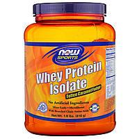 Now Foods, Спортпит, изолят сывороточного протеина, ирис карамельный, 1,8 фунта (816 г), купить, цена, отзывы
