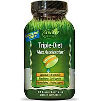 Irwin Naturals, Тройная диета, максимальный акселератор, 72 жидких гелей, купить, цена, отзывы