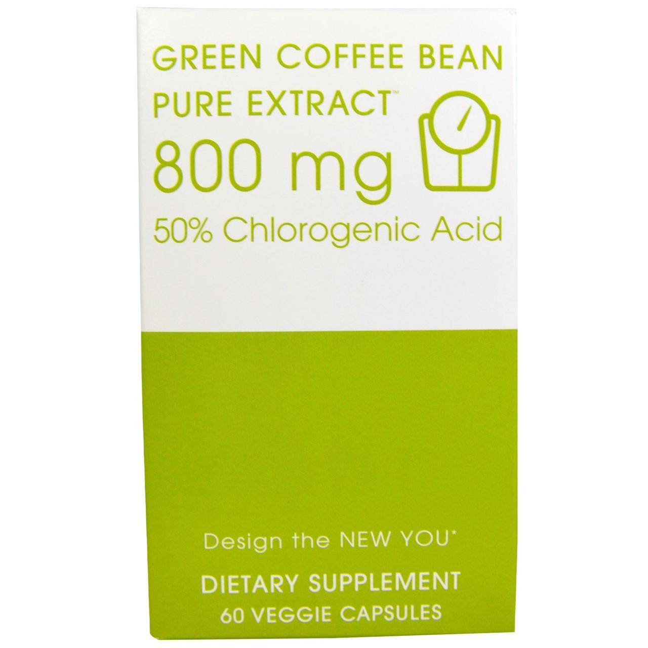 """Creative Bioscience, Зеленое кофейное зерно, чистый экстракт, 800 мг, 60 вегетарианских капсул, купить, цена, отзывы - """"Лидa+"""" биодобавки, витамины, минералы по минимальным ценам.  в Киеве"""