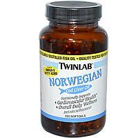 Twinlab, Масло печени норвежской трески, 250 гелевых капсул