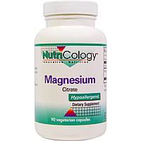 Nutricology, Цитрат магния, 90 растительных капсул, купить, цена, отзывы
