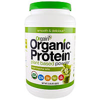 Orgain, Органический растительный белковый порошок, маття латэ со льдом, 2,03 фунта (920 г), купить, цена, отзывы