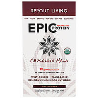 Sprout Living, Epic Plant-Based Protein, Chocolate Maca, 12 Pouches, 1.2 oz (32 g) Each, купить, цена, отзывы