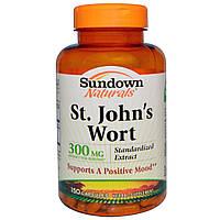 Sundown Naturals, Зверобой, 300 мг, 150 капсул, купить, цена, отзывы