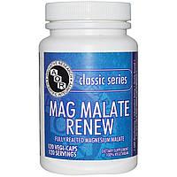 Advanced Orthomolecular Research AOR, Классическая серия, Mag Malate Renew, 120 растительных капсул, купить, цена, отзывы