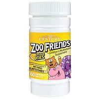 21st Century, Zoo Friends, маленькие, мультивитаминная добавка для детей, 60 жевательных таблеток, купить, цена, отзывы
