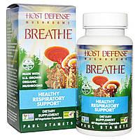 Fungi Perfecti, Host Defense, Breathe, 60 растительных капсул, купить, цена, отзывы