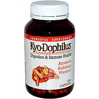 Wakunaga - Kyolic, Пробиотик «Кио-Дофилус», 180 капсул, купить, цена, отзывы