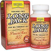 Natural Balance, Long Jack, PowerMax 200, 60 вегетерианских капсул, купить, цена, отзывы