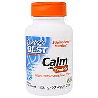 Doctor's Best, Успокаивющий Зембрин, 25 мг, 60 Растительных капсул, купить, цена, отзывы