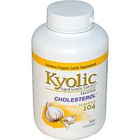 Wakunaga - Kyolic, Экстракт выдержанного чеснока, лецитин и холестерин, Формула 104, 300 капсул, купить, цена, отзывы