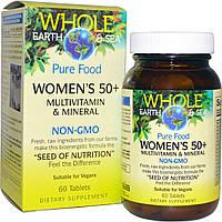 """Natural Factors, Пищевая добавка """"Непочатое море и земля"""", мультивитаминный и минеральный комплекс для женщин от 50, 60 таблеток, купить, цена, отзывы"""