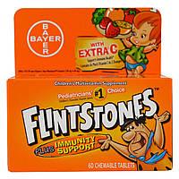 Flintstones, Детская мультивитаминная добавка, фруктовые ароматы, 60 жевательных таблеток с приятным вкусом, купить, цена, отзывы