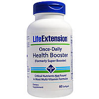 Life Extension, Once Daily Health Booster, 60 мягких капсул, купить, цена, отзывы