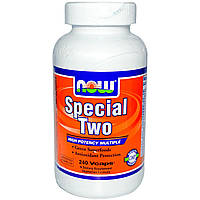 Now Foods, Special Two, мультивитамины, 240 растительных капсул, купить, цена, отзывы