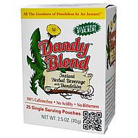 Dandy Blend, Растворимый травяной напиток с одуванчиком, 25 порционных пакетиков, купить, цена, отзывы