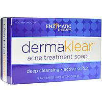 Enzymatic Therapy, DermaKlear мыло для борьбы с акне, 85 г, купить, цена, отзывы