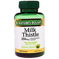 Nature's Bounty, Расторопша, 250 мг, 200 капсул, купить, цена, отзывы