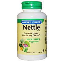 Nature's Answer, Лист крапивы, 90 капсул на растительной основе, купить, цена, отзывы