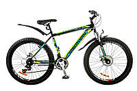 """Велосипед Discovery Trek AM 14G DD 26"""" черно-сине-зеленый 2017"""