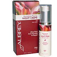 Aubrey Organics, Оздоравливающий ночной крем с альфа-липоевой кислотой, 1 унция (30 мл), купить, цена, отзывы