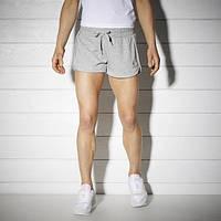 Летние спортивные шорты женские рибок Knit Track BK2747 серые - 2017