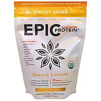 Sprout Living, Феноменальный Протеин на Растительной Основе, Ванильная Лукума, 1 фунт (454 г), купить, цена, отзывы