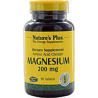 Nature's Plus, Магний, 200 мг, 90 таблеток, купить, цена, отзывы