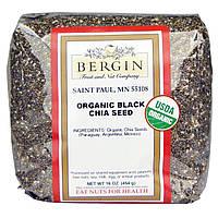 Bergin Fruit and Nut Company, Органические черные семена чиа, 16 унций (454 г), купить, цена, отзывы